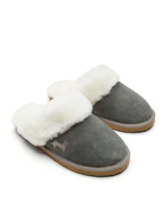 P.A. Classic Suede Scuffs Charcoal - Peter Alexander Online Snug Fit, Perfect Fit, Slippers, Lady, Classic, Charcoal, Gifts, Fashion, Presents