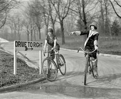 Female cyclists, Washington D.C., 1925.
