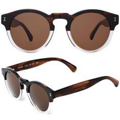 a919fc6d0 Illesteva Leonard Sunglasses in Half / Half with Brown Lenses - Meghan  Markle's Accessories