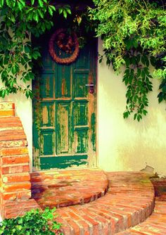 "Title: ""Old can be pretty"". Old door"