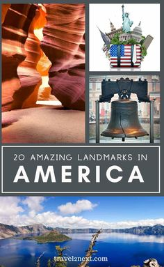 20 Incredible Landmarks in America. From staggeringly vast and beautiful national parks, marks of ancient cultures, and more modern yet impressive manmade landmarks, the Unites States of America has incredible sites to attract both tourists and locals. #usa #travel #america #landmarks #monuments #usatips #usatravel