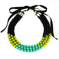 A colorful statement necklace for summer by Dear Margot