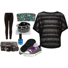 Casual rock party outfit