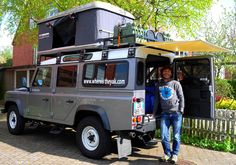 Land Rover Defender 110 adventure camping tent roof.