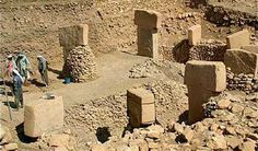 Gobekli Tepe in Turkey. This is the oldest man made structure that was recently discovered. It is primordial. The pillars are made of limestone and having carvings of abstract designs and animals.It has been dated to the BCE. Ancient Ruins, Ancient History, Places Around The World, Around The Worlds, Site Archéologique, Archaeological Site, Ancient Civilizations, Prehistoric, Archaeology