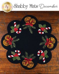 Shabby Fabrics is an online quilting shop for fabric, notions, patterns, & kits. Penny Rug Patterns, Wool Applique Patterns, Felt Embroidery, Felt Applique, Felted Wool Crafts, Felt Crafts, Felt Christmas Ornaments, Christmas Crafts, Xmas