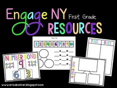 Engage NY First Grade Resources by Erica Bohrer Math Classroom, Kindergarten Math, Teaching Math, Classroom Ideas, First Grade Teachers, 1st Grade Math, Math Lesson Plans, Math Lessons, Engage Ny Math