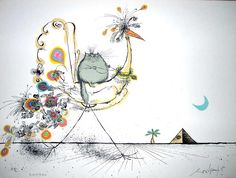 """""""The Arrival of the Oracle"""" by Ronald Searle"""