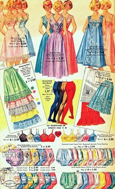A few more images from the 1960 Florida Fashions Catalog. Here are some lovely lingerie and frilly things to brighten the holidays!