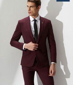 Trajes para hombre » Trajes de color vino para caballero 1  d3705191d630