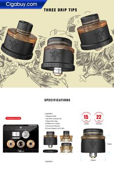 €29.06 - The Vandyvape Requiem RDA supports single Coil building and has 3 airflow settings(DL/RDL/MTL) by rotating it.