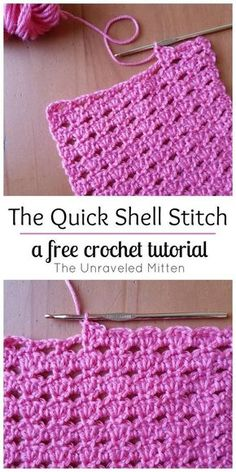 Quick Shell Stitch: A crochet tutorial, crochet tutorial . - The Quick Shell Stitch: A crochet tutorial, HäkelTutorial -The Quick Shell Stitch: A crochet tutorial, crochet tutorial . - The Quick Shell Stitch: A crochet tutorial, HäkelTutori. Crochet Stitches For Blankets, Crochet Stitches For Beginners, Crochet Stitches Patterns, Knitting Patterns, Crochet Afghans, Crochet Projects For Beginners, Crocheting For Beginners Tutorial, Crocheted Blankets, Easy Crochet Stitches