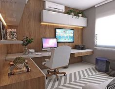 Home Office Decor. Home office and home study style inspirations, for example tips for a smaller place, desk ideas, layouts, and units. Make a work space at your home that you won't mind getting work done in. 83364727 5 Home Office Decorating Ideas Decor, Interior, Home, House Interior, Home Office Design, Home Deco, Office Interior Design, Interior Design, Office Design