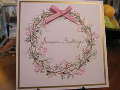 Christmas Wreath by Michele G - Cards and Paper Crafts at Splitcoaststampers