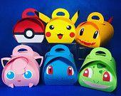 Artículos similares a Cajas del favor del pokemon en Etsy