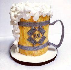 Beer Stein Cake Mini Tutorial | Sweet Treats By Jen