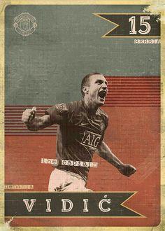 Nemanja Vidic of Man Utd wallpaper.