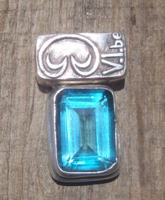 Limited Edition, Emerald Cut Vibe Collection Pendant #saintjohn #bluetopaz #etsy