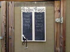 Prayers and Praises Chalkboard idea.