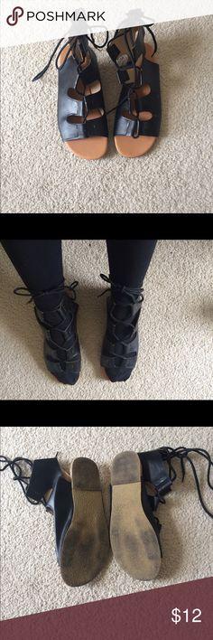 Size 7 sandals Lace up Shoes Sandals