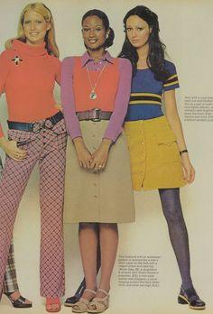 1970's fashion Models Shelley Smith, Beverly Johnson & Lynn Woodruff
