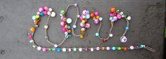 Bloom crocheted knotted clusters of gemstone bracelet por Sydneyjos