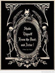 The Undead Arise Gothic Macabre Art Print - † Deep Dark Gothic & Horror Love † - halloween art Gothic Horror, Gothic Art, Dark Gothic, Horror Art, Theme Halloween, Vintage Halloween, Gothic Halloween, Halloween Quotes, Halloween Halloween