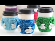 Christmas Sweater Coffee Mug Cozie - YouTube