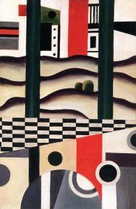 Fernand Leger - The Bridge, 1923 at Museo Thyssen-Bornemisza Madrid Spain Georges Braque, Gif Sur Yvette, Sonia Delaunay, Art Moderne, Art Abstrait, Art History, Painting & Drawing, Illustration, Pop Art