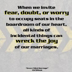 Dr. Tim Kimmel and Darcy Kimmel explain how to create a Grace Filled Marriage - here is another great quote! #GFMBook