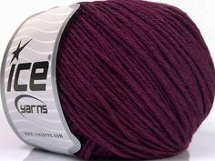 Fiber Content 60% Bamboo 40% Cotton Maroon Brand Ice Yarns fnt2-50553