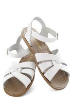 Outer Bank on It Sandal in White   Mod Retro Vintage Sandals   ModCloth.com - i'm getting these as soon as I can decide on a colour... white? Black? brown?