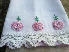 68 Most Popular Crochet Lace Edging Dish Towels Crochet Towel, Crochet Lace Edging, Baby Afghan Crochet, Crochet Cushions, Crochet Borders, Crochet Mandala, Crochet Tablecloth, Crochet Pillow, Crochet Potholders