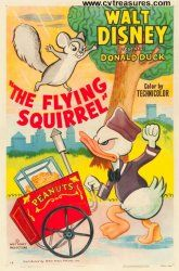 Original vintage Walt Disney movie poster for the Flying Squirrel 1954 Walt Disney Movies, Classic Disney Movies, Disney Movie Posters, Classic Movie Posters, Classic Cartoons, Disney Cartoons, Cartoon Posters, Retro Posters, Disney Characters