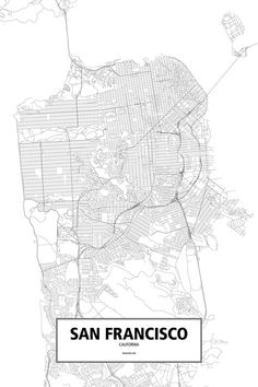 Black and White street maps.