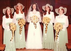 You Can Wear it Again 1976 I have lots of photos like this. I stood up for lots of weddings!