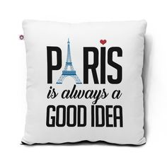 Almofada Paris is always a good idea azul