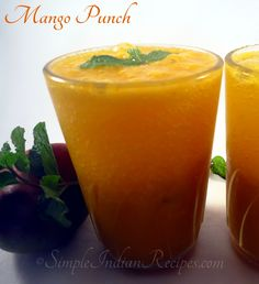 Mango Punch: A perfect summer mocktail drink. Try the easy to prepare mango punch recipe @ http://simpleindianrecipes.com/Home/Mango-Punch.aspx