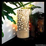 Ceramic high openwork lampshade. Ceramiczny ażurowy klosz do lampy.