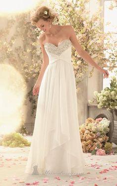 New A-Line White/Ivory Chiffon Maternity Wedding Dress Bridal Gown Custom made