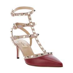 Valentino Rockstud Red leather sandal Valentino1218