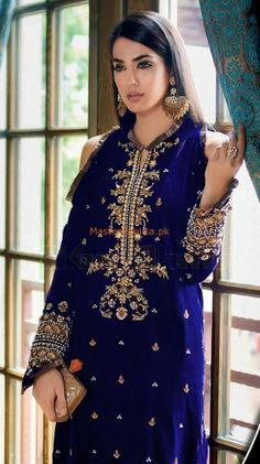 Pakistani Dresses Online Shopping in Pakistan - Buy Pakistani Dresses Online Pakistani Wedding Outfits, Wedding Dresses For Girls, Party Wear Dresses, Bridal Outfits, Net Dresses Pakistani, Pakistani Dress Design, Velvet Dress Designs, Dress Neck Designs, Simple Dresses