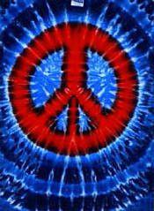 Tie Dye T-Shirt Peace Sign Design