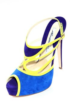 blues and bright yellow