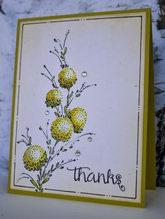 delicate florals, Penny Black stamp sets This Haus of Cards: Thanks