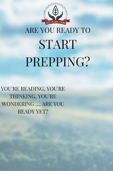 Are you honestly ready to start prepping? Or are there some attitudes and problems that you need to address first?