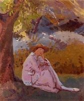 walter-bayes-the-artists-wife-seated-under-a-tree.jpg (168×201)