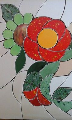 Stained Glass Patterns Free, Mosaic Flowers, Concrete Art, Mosaic Art, Projects To Try, Creta, Dali, Bracelet, Accessories
