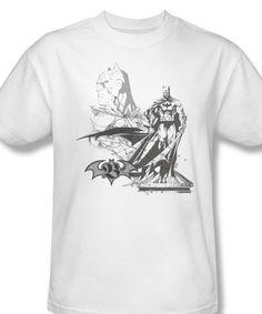 eee171efd DC Comics Batman Pen and Ink Illustration The Dark Knight Graphic Tee -  T-Shirts, Tank Tops