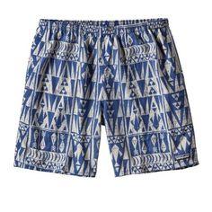 Patagonia Men's Baggies Longs Shorts Superior Blue/Tribal Geo XL